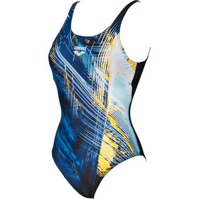 arena Icy U Back Badpak Dames, black-lily yellow